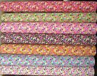 Floral Polycotton Fabric * Country Colourful Love Hearts Balls Flowers Butterfly