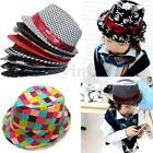 Baby Kids Trilby Toddler Boys Girls Fedora Jazz Dance Hat Outdoor Sunhat Cap