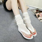 Women's Open Toe Knitting Mesh Flip Flop Sandals High Top Breathable Boots Shoes