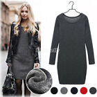 Fashion Women Autumn Winter Slim Bodycon Cocktail Dress Long Sleeve Mini Dress