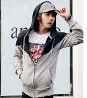 Men's casual Slim Fit Thick Long-Sleeved Hooded Cardigan Jacket Sweater