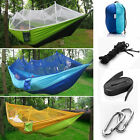 Double Hammock Tree Two Person Patio Bed Swing Outdoor with Mosquito Net Nylon