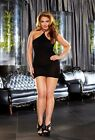 Black Vip Mini Dress LC-43 Sexy Lapdance Lingerie OSQ Bedroom Fantasy Plus Size