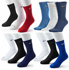 $18 Nike SX4827 3-pair Dri-FIT Cotton Crew Socks Assorted Color L Men's 8-12