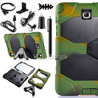 Heavy Duty Hybrid Case Cover Armor with Kisk Stand for Samsung Galaxy Tab Tablet