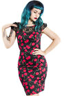 Hearts and Roses H&R Pin Up 50's Retro Bombshell Cherry Wiggle Dress Rockabilly