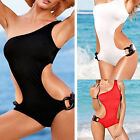 2016 Women's Sexy One-Piece Bikini Padded one-shoulder Swimwear Suit Monokini 58