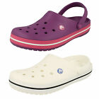 Ladies & Mens Crocs Crocband White Or Dahlia Synthetic Lightweight Mules