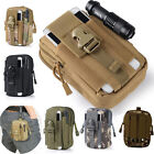 Men Military Tactical Waterproof Waist Pack Purse Mini Outdoor Sport Bag Black