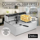 20L COMMERCIAL DEEP FRYER 5000W TABLETOP ELECTRIC DISHES STAINLESS STEEL GREAT