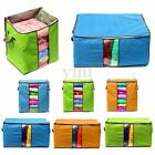 Large Clothes Quilt Bedding Duvet Zipped Handles Laundry Pillows Storage Bag Box