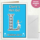 CUSTOMISABLE HEN NIGHT PARTY  GREETING CARD A6 IN SIZE INVITATIONS