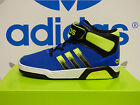 NEW ADIDAS Neo BB9TIS Mid Toddler Shoes - Blue/Solar Yellow;  F99689