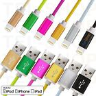 Strong Braided USB Lightning Charger Cable Lead for iPhone 6 6S 5 5S iPad 4 Air