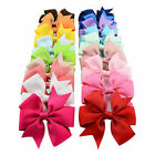 Grosgrain Ribbon Hair Bows WITH Clip/ CLIPS FLOWER BABY/GIRL UK