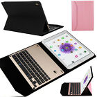 For Apple Pro 9.7 Aluminium Bluetooth Keyboard With Stand Leather Case Cover