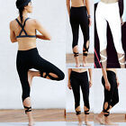 Womens Sports Leggings Yoga Pants Gym Running Fitness Jogging Trouser Clothes