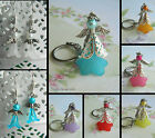GUARDIAN ANGEL KEYRING KEY CHAIN PINK LILAC RED GREEN BLUE YELLOW BEAD
