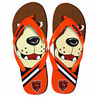 Chicago Bears NFL 8-16 Youth Mascot Flip Flops