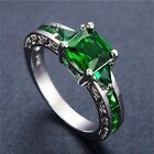 10k White Gold FIlled Emerald Ring