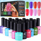 6x Soak Off Gel Polish Set UV LED Lamp Cured Nail Art Rhinestones Tips Gift Box