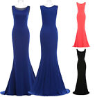 NEW Womens Summer Sleeveless PROM Evening Party DRESS Casual Long PAGEANT GOWN