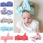 Baby Girls Floral Headwrap Top Knot Big Bow Turban Tie Headband Hair Accessories