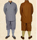 7425 Cotton Shaolin Monk Buddhists Daily Casual Uniform Kung Fu Small Gown Robe