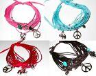 BRACELET ANKLET LUCKY ELEPHANT PEACE SIGN CHARM WOMEN BEACH HIPPIE FASHION NEW