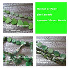 Mother of Pearl Shell Beads MOP Beads Green Jewelry Beads Heart Teardrop Spacer
