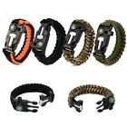 Side Buckle With Whistle Compass Flint Fire Starter Scaper For Paracord Bracelet