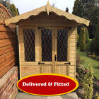 FITTED & DELIVERED* The Harriet Garden Summerhouse Tanalised Log Lap Cladding