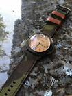 Handmade Camo Canvas Leather Watch Strap Band PAM or big watch.