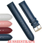 Genuine Leather Padded Watch Band Strap for Ladies and Mens Classic Fine Watches