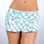 5005 Blue Plaid PLEATED Go-Go DANCER ROLLER MICRO MINI Short SKIRT RAVE S M L
