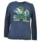 NCAA Notre Dame Fighting Irish Mens Adult Thermal Pullover Shirt Long Sleeve Blu