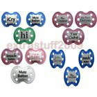 Funny Baby Pacifiers BPA Free Silicone ages 0-18 months Boys or Girls