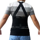 Lumbar Support w/ Suspenders, Back Brace, Weight Lifting Belt, Work Safety