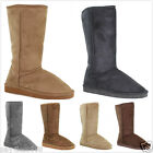 Brand New Women's Fur Lined Comfort Slipper Boots Shoes Mid Calf USA Seller