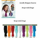 Lavello Designer Scarves - Stripe Solid Colors w/Fringe -Scarf Fashion Gifts NEW