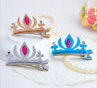 1pcs Kids Girls Hair Clips Crown Princess Shiny Hair Clip Solid Sequins Hairpin