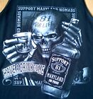 """HELLS ANGELS SUPPORT NOMADS MARYLAND 81 """"jack daniels style t-shirt"""""""