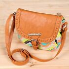 Women Canvas Leather Printed Shoulder Bags Handbag Tote Messenger Purse EA9