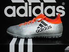 NEW ADIDAS X 16.3 Turf Soccer Shoes - Silver/Solar Red;  S79575
