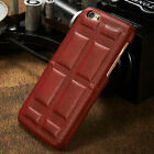 Vintage Sofa PU Leather Back Case Cover Chocolate Pattern For iPhone 6 S7 S7edge