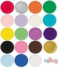 "8 Round Paper Party Plates 7"" & 9"" Plain Solid Colours Tableware Birthday Party"