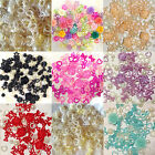 50 / 100 Mixed Flatback Hearts Resin Pearls Bow Rose Embellishments Card making