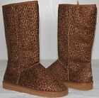 Brand New Women's Winter Snow Boots Mid Calf Warm Leopard Color Free Shipping