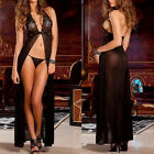 New Sexy Costumes Underwear Backless Lace Set Erotic Long Skirt and G-string