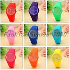School Girl Women's Casual Cute Geneva Jelly Silicone Rubber Sport Wrist Watch